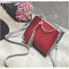 Women handbag vintage bag shoulder bags red one size
