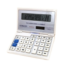 CT-8814V-W Arithmetic Calculator 14 Digits Display Solar Flip Financial Calculator