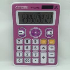 CT-977C Solar Calculator 12-bit Creative Computer Pink Calculator