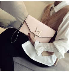 Ladie's Mini Handbag Sling Bag Elegant Pure Color PU Leather Bag pink one size