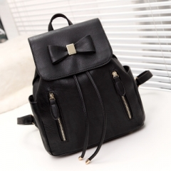 Multi-function Backpack For Women Bow Travel Bags School College Bag Casual black one size