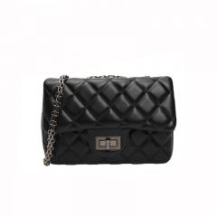 Ladie's Mini Bag Handbag Sling Bag Elegant Lingge PU Leather Bag black1 one size