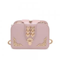 Ladie's Mini Bag Sling Bag Multi-card Position Elegant PU Leather Bag pink one size