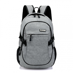male backpack male casual female travel business computer bag middle school students tide college grey one size