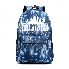 Custom Fortnite Game Fortress Night Lights Bag Men and Women Backpack Youth Campus Backpack blue1 one size