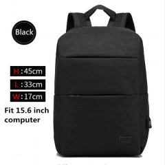 Backpacks USB Charging For 15inch laptop Back pack Large Capacity Stundet School Casual Style bag black one size