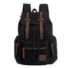 Fashion Men's Backpack Vintage Canvas Mochila Feminina Men's Travel Bags Large Capacity Laptop army green one size