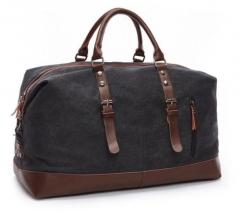 Men handbag Large capacity Travel bag shoulder Casual Cross body black one size