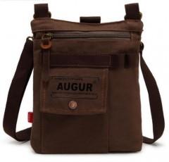 Canvas Unisex Fashionable Leisure Cross Body Single Shoulder Bag coffee one size