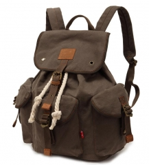 Fashion Men's Backpack large capacity vintage canvas bag men's travel bags army green one size