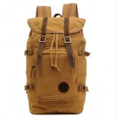 New Fashion Classic Style Travel Large Backpack Shoulder Bags Khaki one size