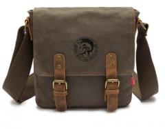 Vintage Men CanvasBag Fashion Briefcase Men Cross Body  Shoulder bag army green one size