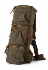 Casual Canvas Shoulder Bags Chest Pack Bag For Men Crossbody Bag army green one size