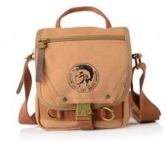 Canvas bags men's travel bag canvas men messenger bag mini size Khaki one size