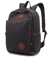 Canvas Travel Backpack Large-Capacity Leisure Man Shoulder Bag black one size