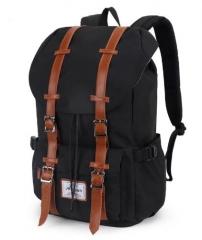 Men's Waterproof Travel Shoulder Bag Large-Capacity Backpack black one size