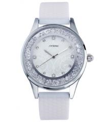 Women's Fashion Watch Silicone Strap Ladies Quartz Wrist Watch white