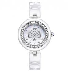 Fashion Casual Quartz Ceramic Watches Lady Women Wristwatch white one size