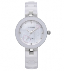 Women Watches Classic White Ceramic Ladys Quartz Watch white one size