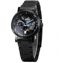 Men Watches Classic Black Automatic Mechanical Watch black one size