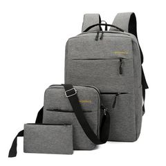 Men's Bags College style fashion new rucksack travel bag Backpacks Gray FREE SIZE
