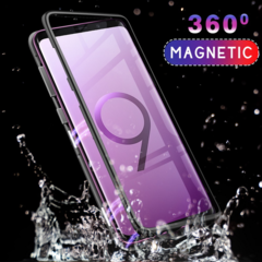 Magnetic Metal Case For Samsung Galaxy S9 S8 S10 Plus Note 8 9 + Tempered Glass Phone Cases blue for samsung galaxy s20 ultra