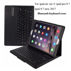 Detachable Wireless Bluetooth Keyboard+ PU Leather Case Stand Holder For ipad Air / Air 2 /pro 9.7 Black For iPad Mini 1 2 3