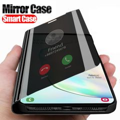 Smart Mirror Case For Samsung Galaxy S20 Ultra S20 Plus S10 S8 S9 note 8 9 10 Flip book phone Cover for samsung galaxy s7 edge silver