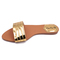 Ladies and Women sandals Gold 39