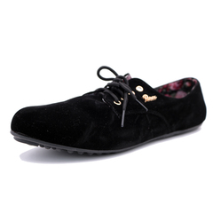 ladies flat shoes black 37