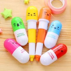 2020 New Year Gift 1PCS Expression Retractable Colorful Pill Pen Capsule Pen Ballpoint random