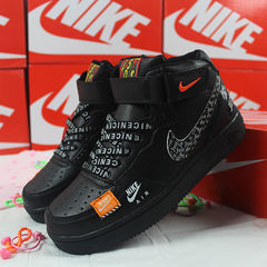High shoes Air Force one joint Air Force 1 OW men's shoes sport casual shoes running shoes black&white 40