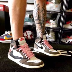 Aj1 barb high high basketball shoes inverted hook grimace men and women couple shoes low shoes 1601green 44