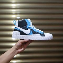 The blazers joint sacai blazer deconstruction high shoes for men and women shoes blue 39