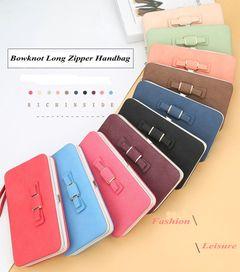 2020 Christmas gift women  Leather wallet Lady purse HandbagLong zipper money phone bag red 18*10*2.5cm