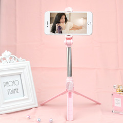 Selfie Stick Tool Take Photos Mirror Thanks Giving Christmas Gift Travelling Equip Tripod pink average