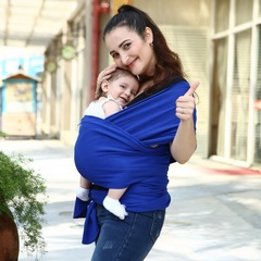 Comfortable Baby Carrier Strape Slings Wrap blue 20kg maximum