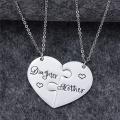 Creative Gift Necklace Mother and Daughter Combination silver average