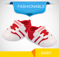 Baby Toddler Shoes Fashionable Sneakers Red 15