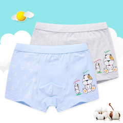 Boys'Underwear Panties Boxer Shorts 2pcs/4pcs Package Grey+Blue 150