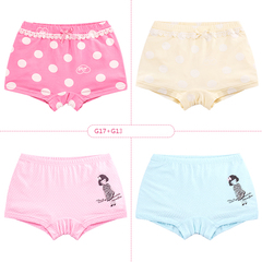 Baby Girl Cotton Boxer Shorts Panties Underwears with Cartoon Images 4pcs Package G17+G13 150