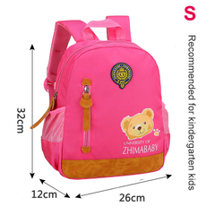 2019 Hot Kids Kindergarten School Bag Backpack with Bear Images for Boys and Girls red S