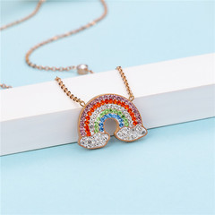 Rainbow Shape Colorful Necklace Best Gift for Friends or Relatives or KIds nicer than real gold rose gold average