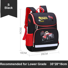 Healthy School Bags Backpacks Large Capacity Water Resistant  Fluorescent Warning Strip black l
