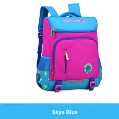 Colorful  School Bags Backpacks for Lower or Higher Grade Water Resistant with Fluorescent Strip Sky blue s