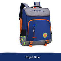 Colorful  School Bags Backpacks for Lower or Higher Grade Water Resistant with Fluorescent Strip royal blue l