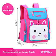 Colorful Cartoon School Bags Backpack for Boys and Girls Lower or Higher Grade rose red s