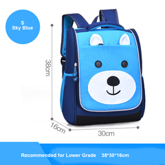 Colorful Cartoon School Bags Backpack for Boys and Girls Lower or Higher Grade Fluorescent Warning blue s