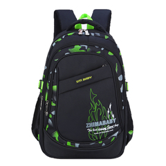 Casual School Bags Backpack for Boys and Girls of Lower or Higher Grade Simple Style green l