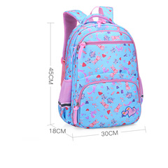 Colorful flower big bag real craft bag Student book bag for boys and girls sky blue s